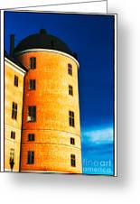 Tower Of Uppsala Castle - Sweden Greeting Card by David Hill