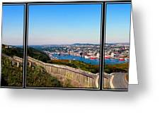 Tower Over The City Triptych Greeting Card