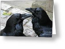 Tower Ravens Greeting Card