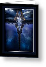 Tower Reflexion Greeting Card