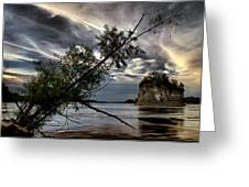 Tower Rock In The Mississippi River Greeting Card