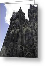 Tower Scaffolding Cologne Cathedral Greeting Card