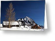 Towering Above Crested Butte Greeting Card