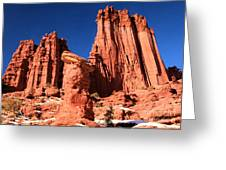 Towering Above The Hoodoo Greeting Card