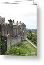 Towers And Townwall  - Carcassonne Greeting Card