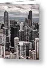 Towers Of Chicago Greeting Card