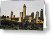 Towers Of San Gimignano Greeting Card