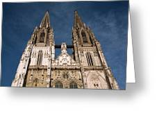 Towers Of St Peter's Cathedral In Old Greeting Card