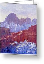 Towers Of The Virgin Valley Greeting Card