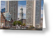 Towers On The Harbor Greeting Card