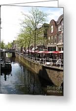 Town Canal - Delft Greeting Card