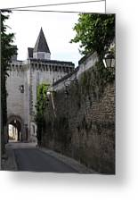 Town Gate - Loches - France Greeting Card