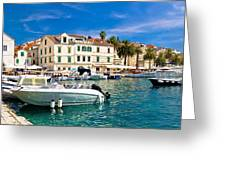 Town Of Hvar Waterfront View Greeting Card