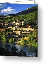 Town Of Sisteron In Provence Greeting Card