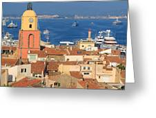Town Of St Tropez Cote D'azur France Greeting Card