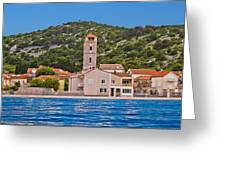 Town Of Tisno Waterfront Croatia Greeting Card
