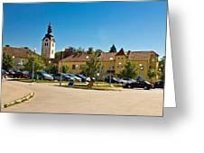 Town Of Vrbovec In Croatia Greeting Card