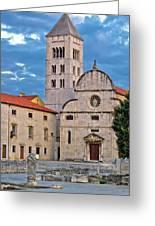Town Of Zadar Historic Church Greeting Card