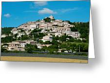 Town On A Hill, D51, Sault, Vaucluse Greeting Card