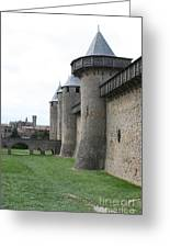 Town Wall - Carcassonne Greeting Card