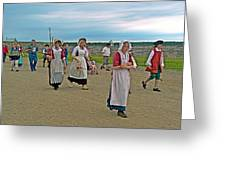 Townsfolk On Main Street In Louisbourg Living History Museum-174 Greeting Card