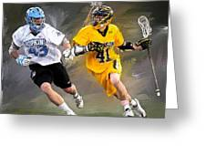 College Lacrosse 7 Greeting Card