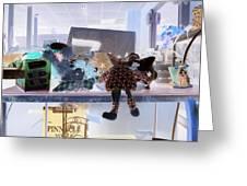 Toy Doll Greeting Card by Dietrich ralph  Katz