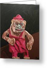 Toy Monkey With Cymbals Greeting Card