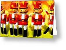 Toy Soldiers Nutcracker Greeting Card by Bob Orsillo
