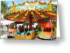Toy Town Carousel  Greeting Card