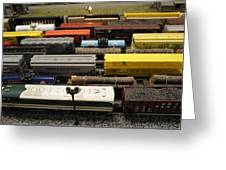 Toy Trains Greeting Card