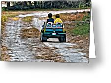 Toy Truck Riders Greeting Card