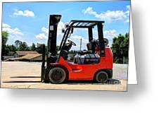 Toyota Fork Lift  Greeting Card