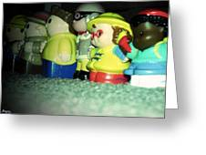 Toys In A Row Greeting Card