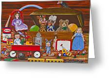 Toys In The Attic Greeting Card