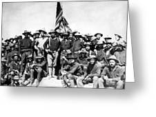 Tr And The Rough Riders Greeting Card