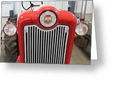 Ford Tractor Grill Greeting Card