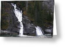 Tracey Arm Fjord Waterfall Greeting Card