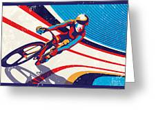 Track Cyclist Greeting Card