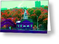 Track Up Red Hill Greeting Card