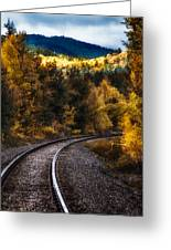 Tracks Through The Mountains  Greeting Card by Bob Orsillo