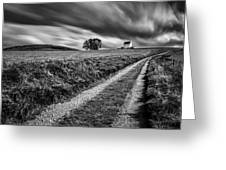 Tracks To Corgarff Castle Greeting Card