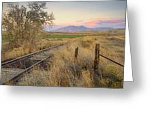 Tracks To The Portneufs Greeting Card
