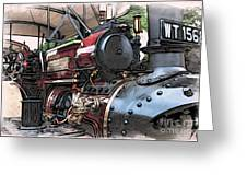 Traction Engine 2 Greeting Card