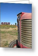 Tractor On The Pumpkin Farm Greeting Card