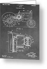 Tractor Patent Greeting Card