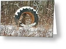 Tractor Tire Greeting Card