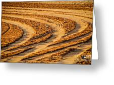 Tractor Tracks Greeting Card