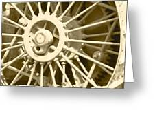 Tractor Wheel Greeting Card