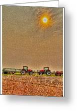 Tractors At Noon Greeting Card